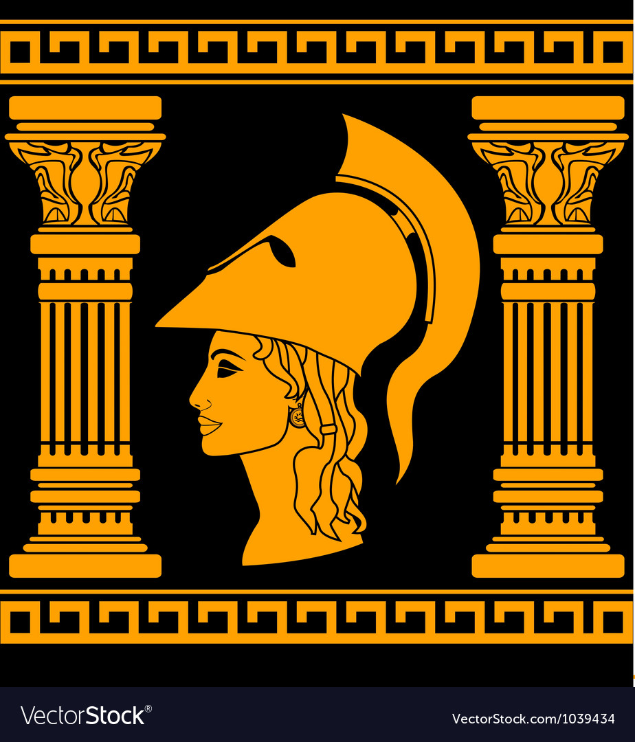 Memory of Athena vector image