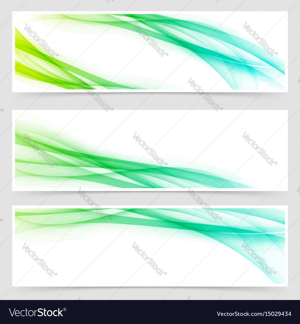 Modern swoosh futuristic line card collection vector image