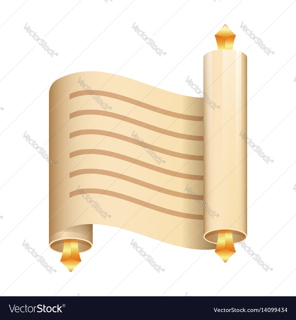 Paper scroll flat icon on white background