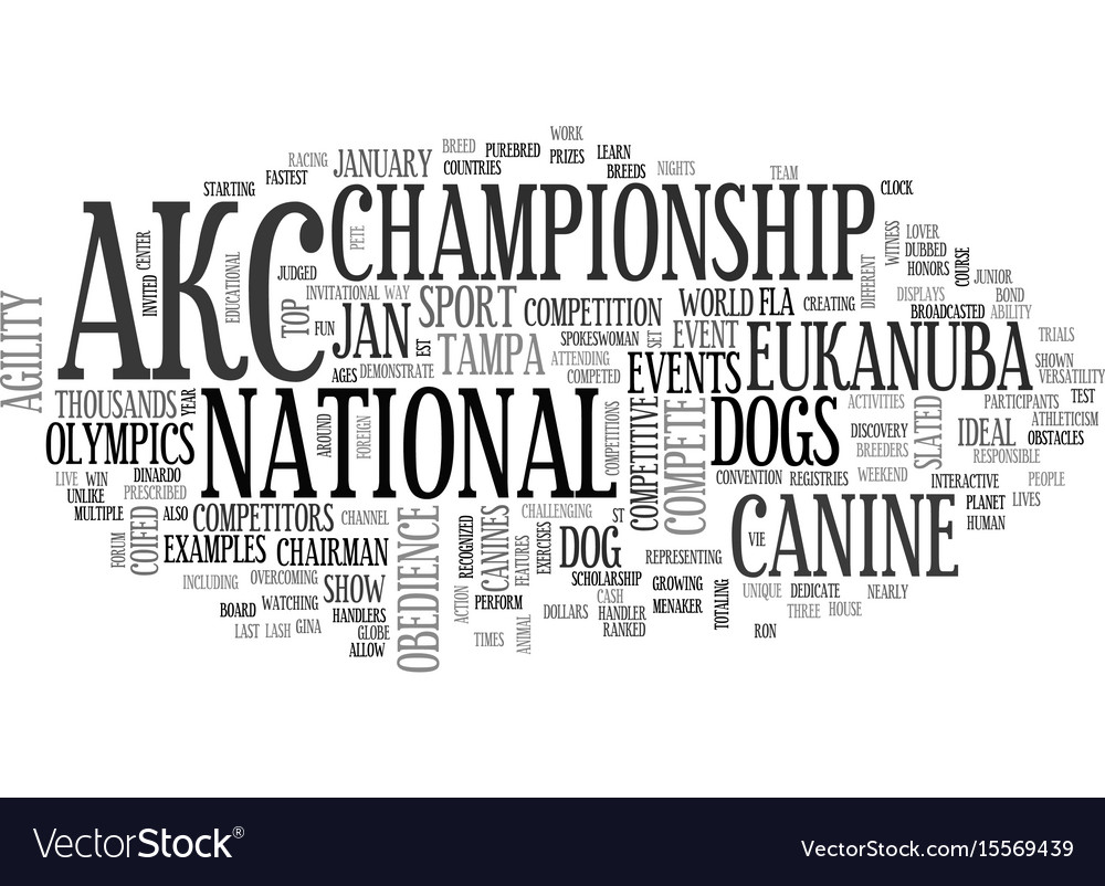 Akc canine olympics slated for january text word
