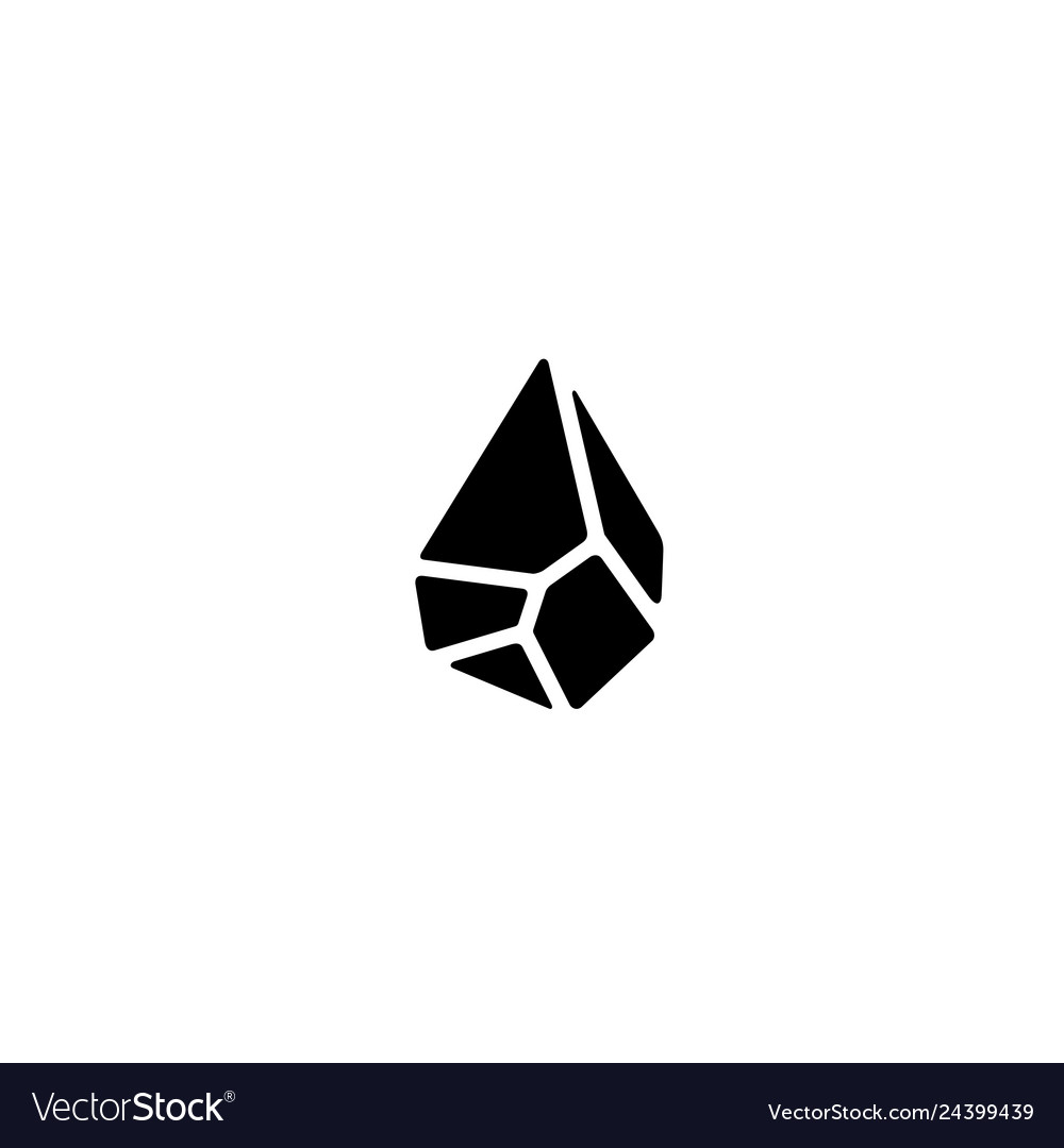 Black drop oil stone logo icon