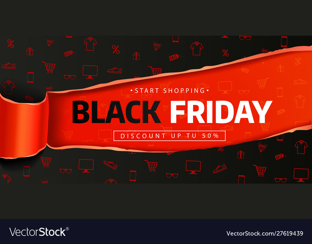 Black friday sale banner poster logo sale