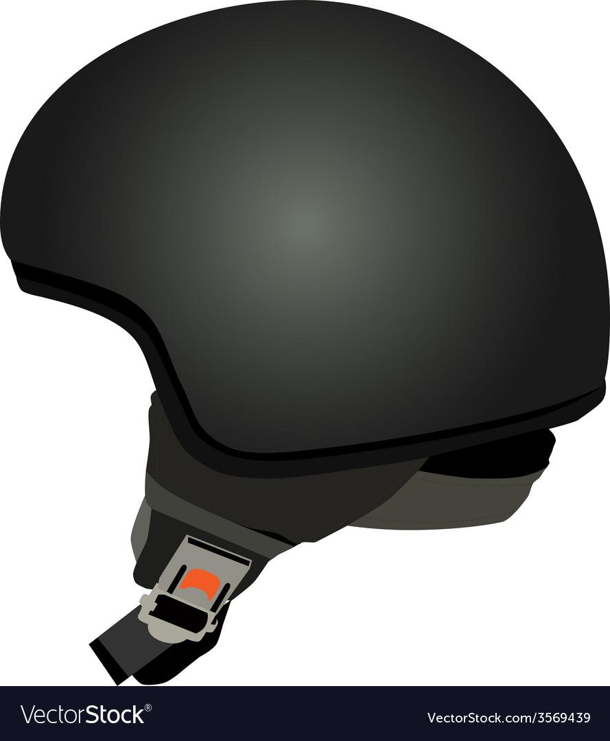 Black police helmet