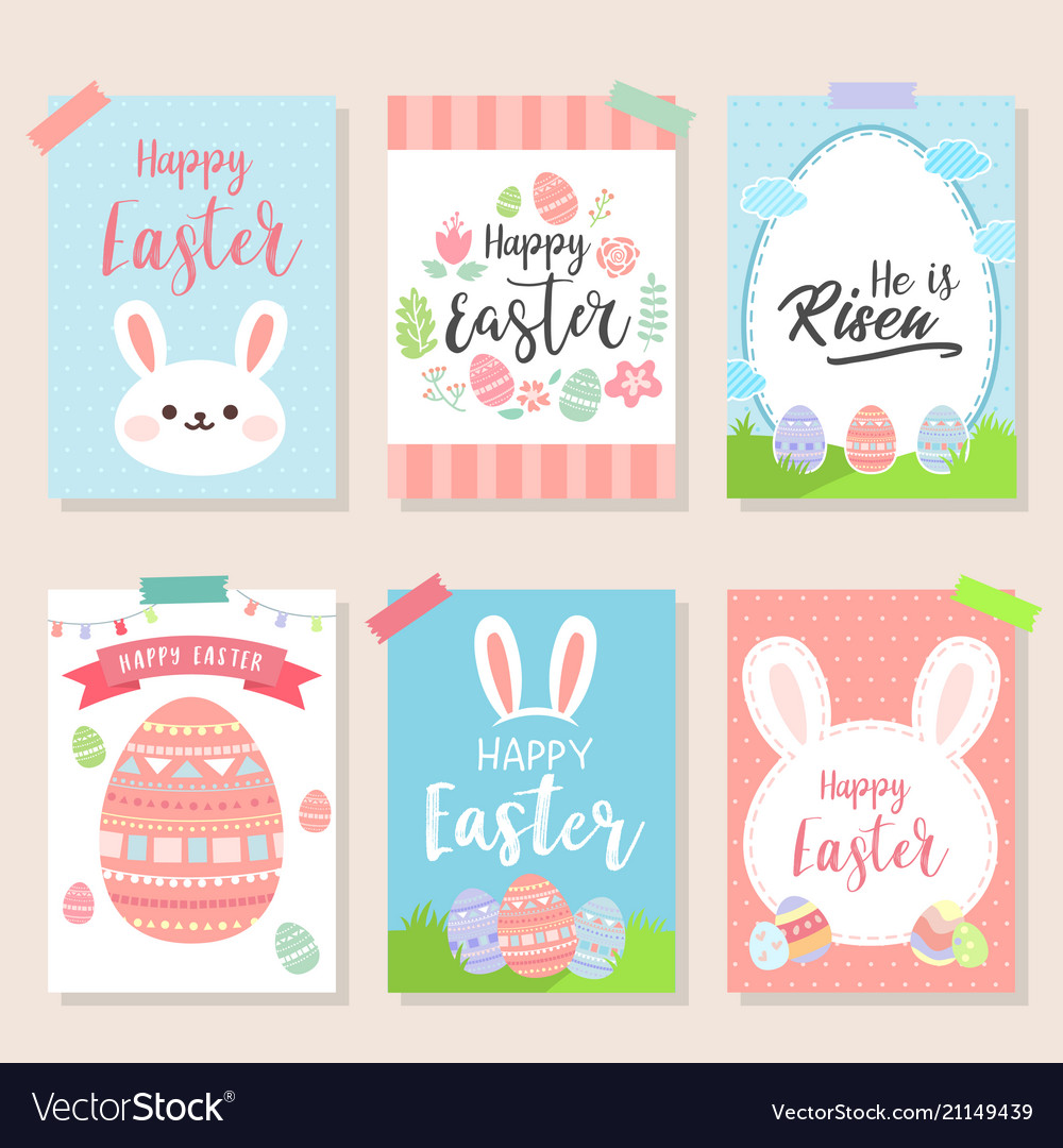 Happy easter invitation wallpaper flyers poster