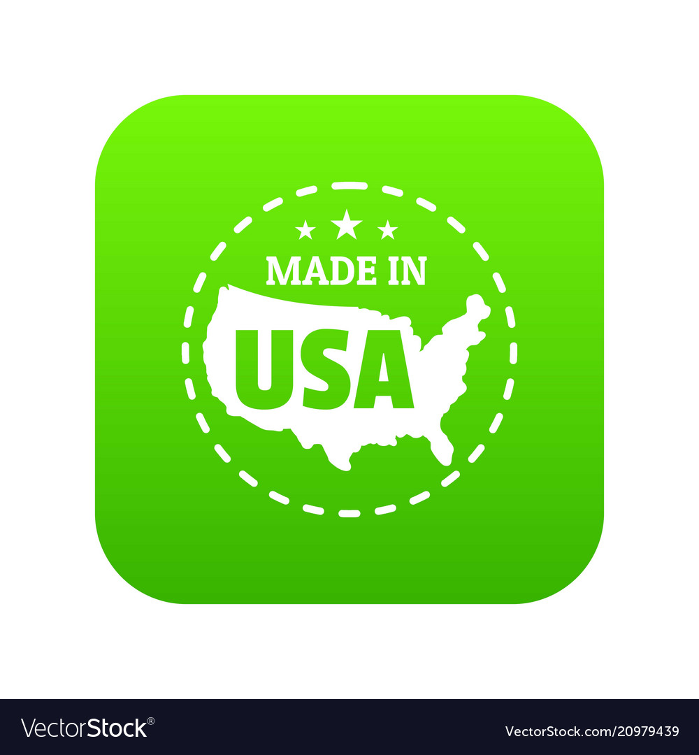 Made in usa country icon green