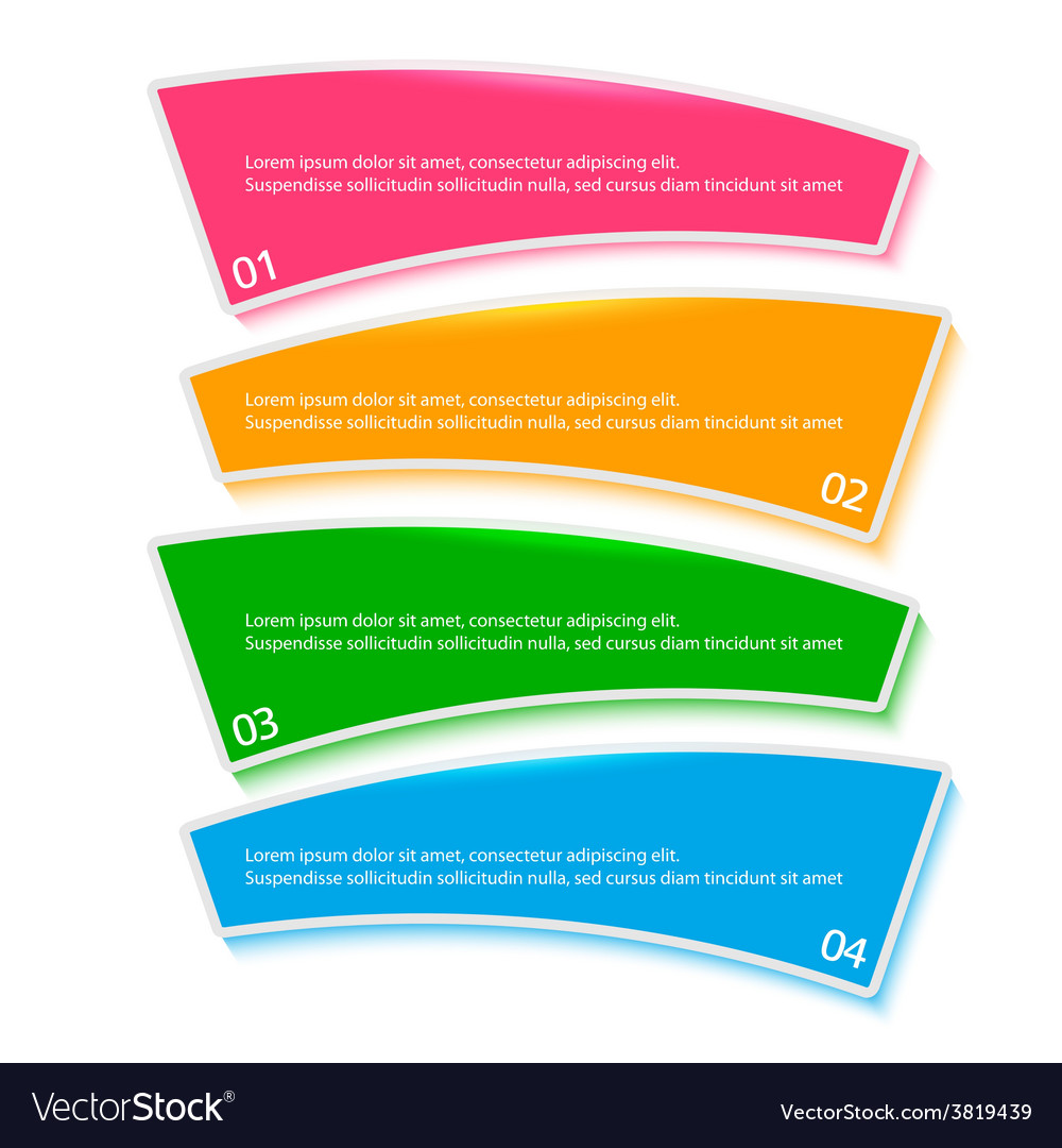 Menu Template Process Steps Firm Report Royalty Free Vector - Process steps template