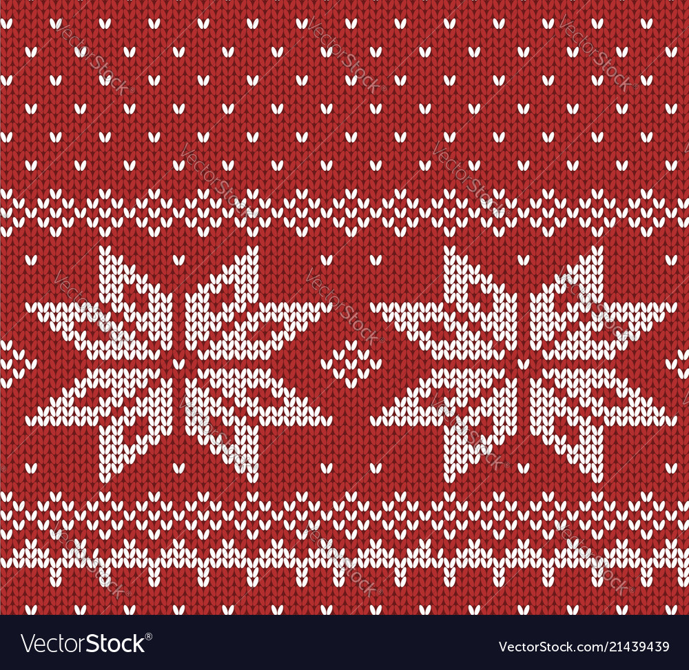 Norway festive red sweater texture fair isle vector