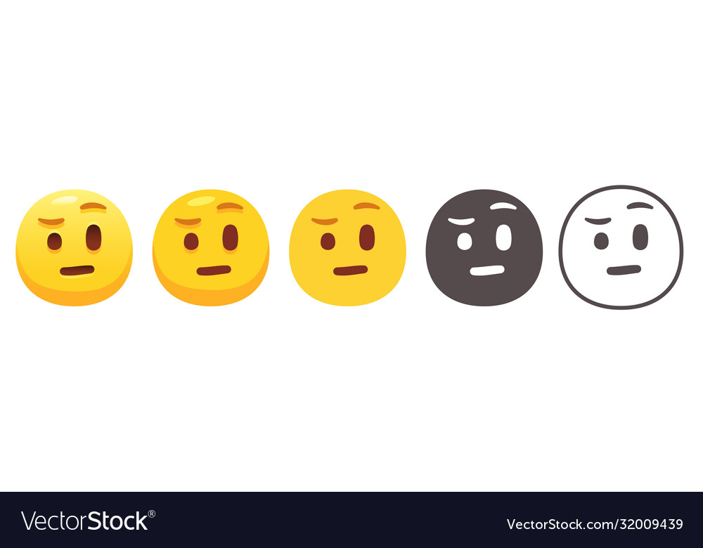 Raised Eyebrow Emoji Royalty Free Vector Image This cheat sheet is automatically generated from github emoji api and unicode full emoji list. vectorstock