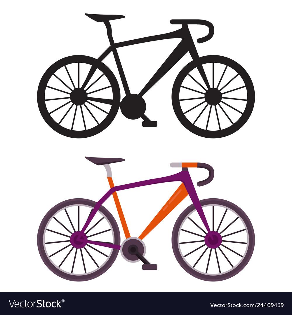 Retro city bike icons