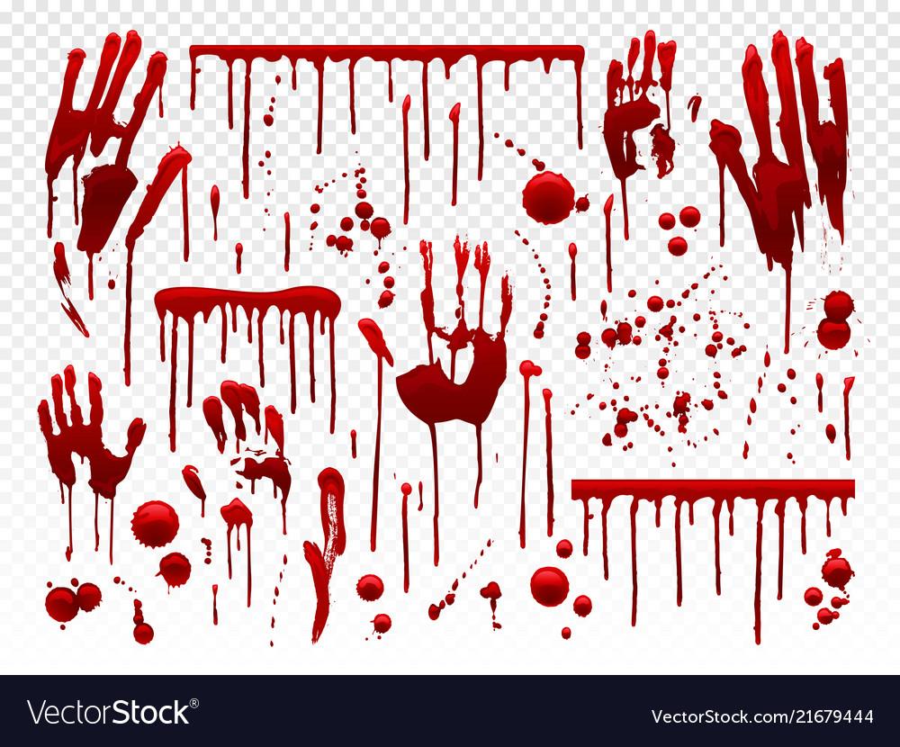 Blood drip red paint splash halloween bloody