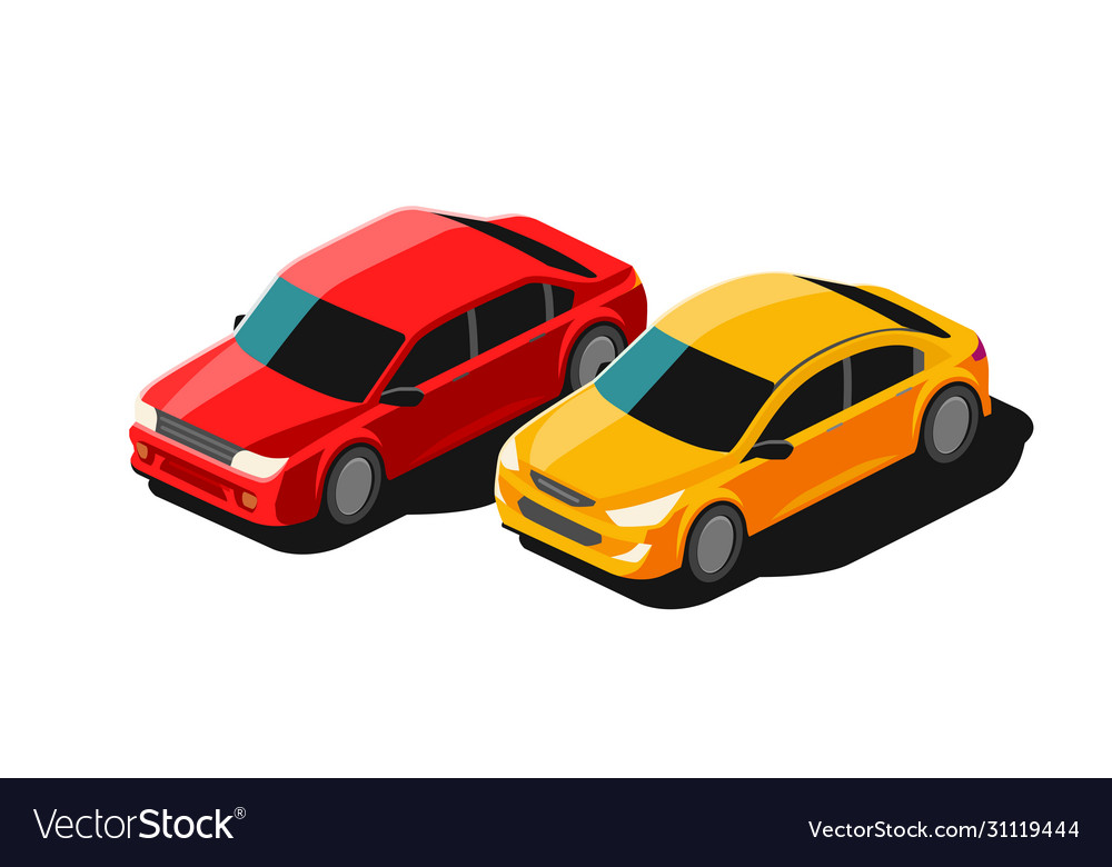 Cars transport isolated