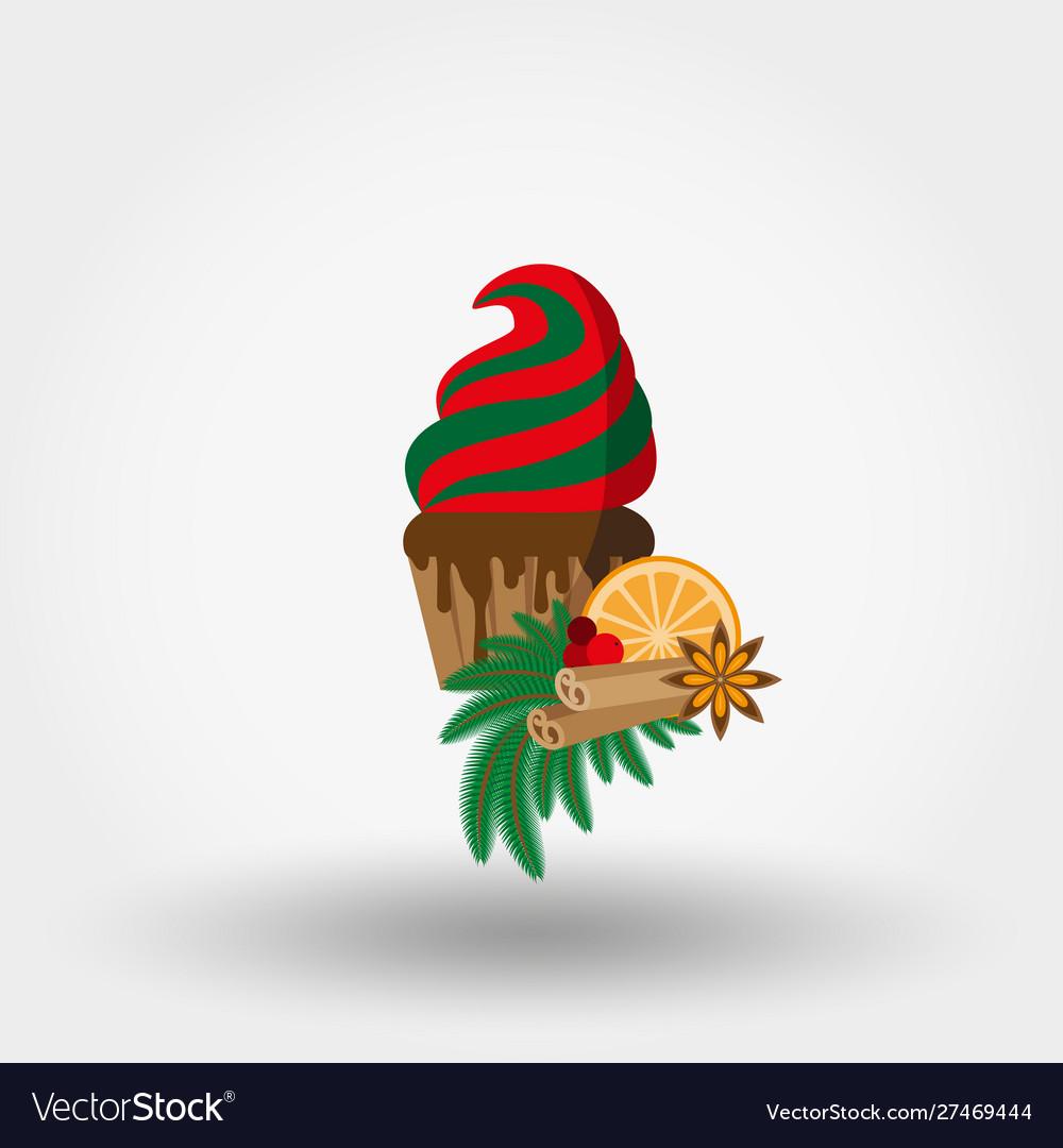 Christmas cupcake festive cupcake