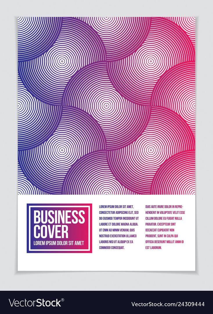 Futuristic minimal brochure graphic design