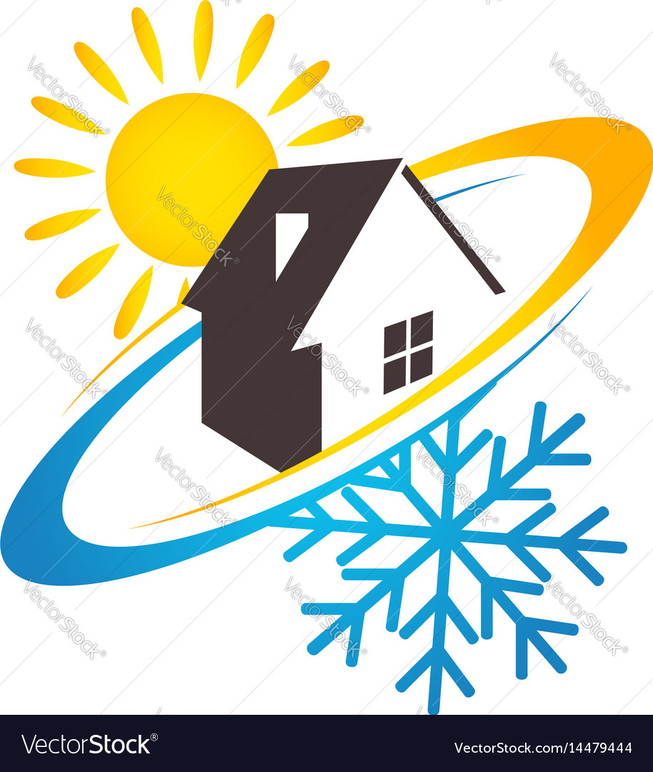 House sun and snowflake design for business
