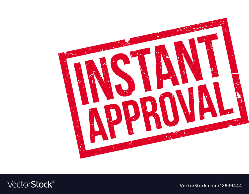 Instant Approval Rubber Stamp Vector Image
