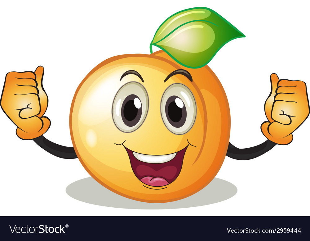 Поздравление, смешная картинка персика
