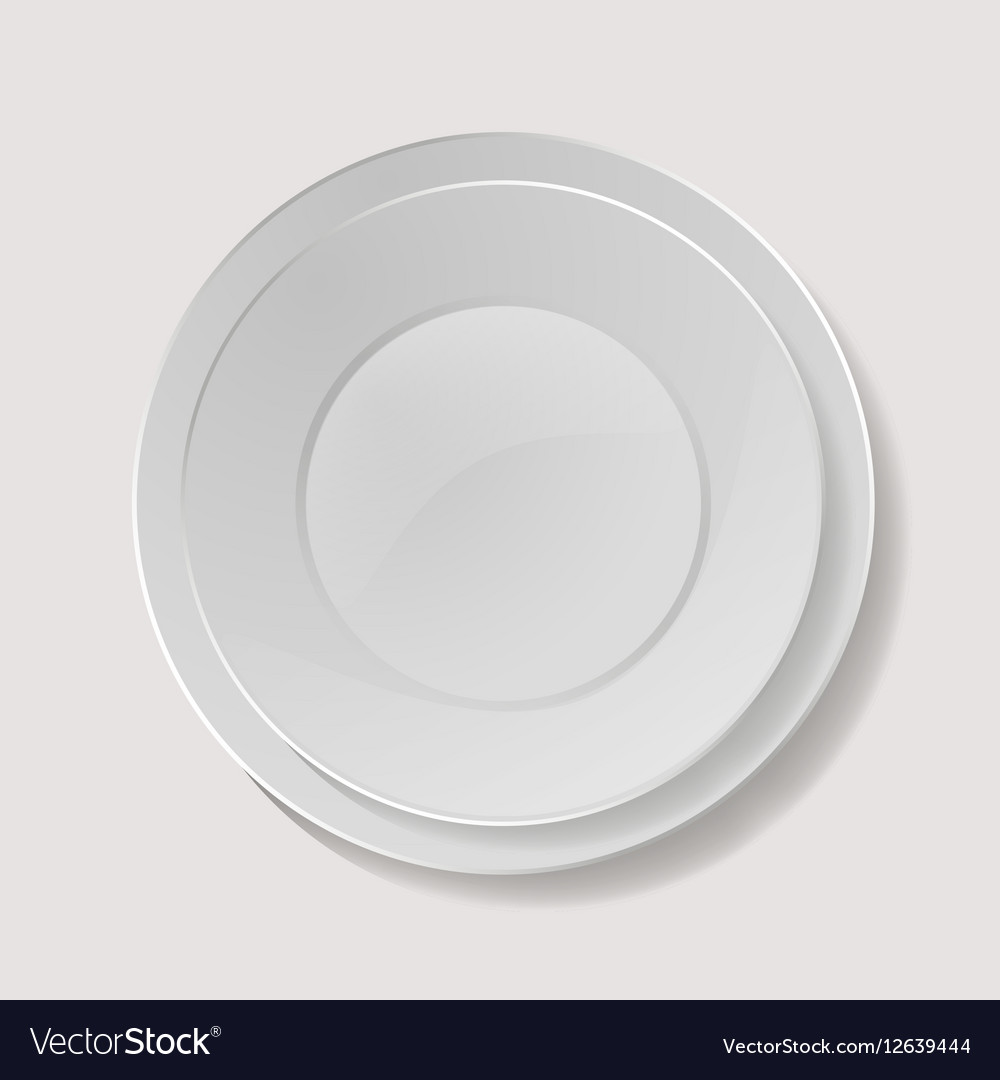 Realistic Plate Closeup Porcelain Mock Up vector image