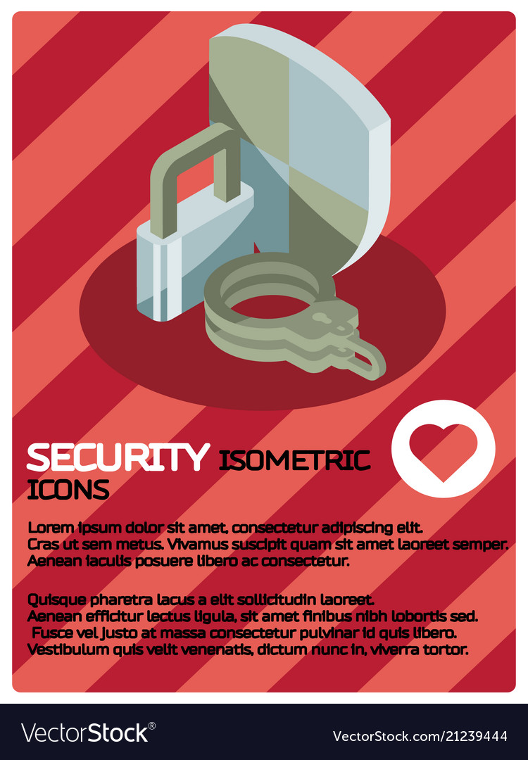 Security color isometric poster