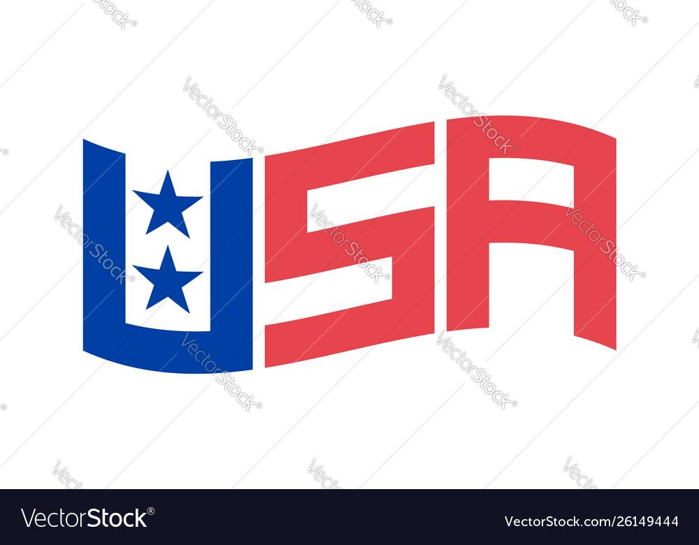Set symbols usa letters usa flag united states
