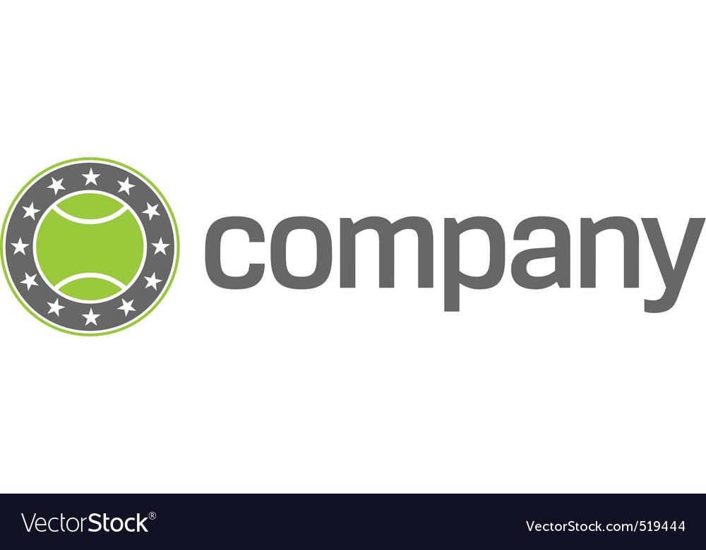 Tennis sport logo