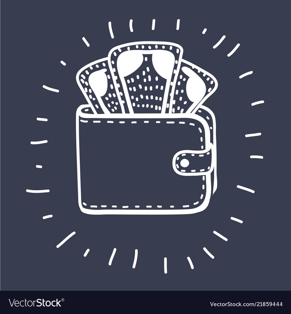 Wallet icon concept
