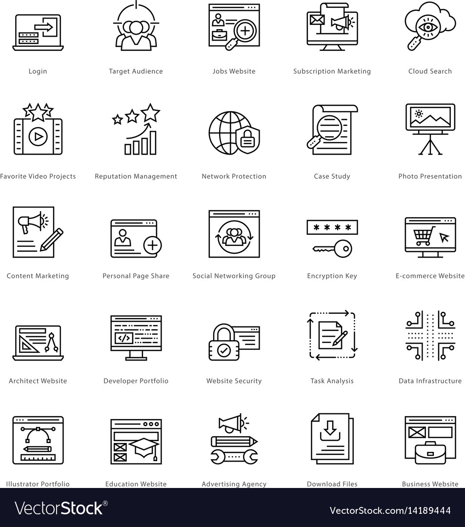 Web and seo line icons 32