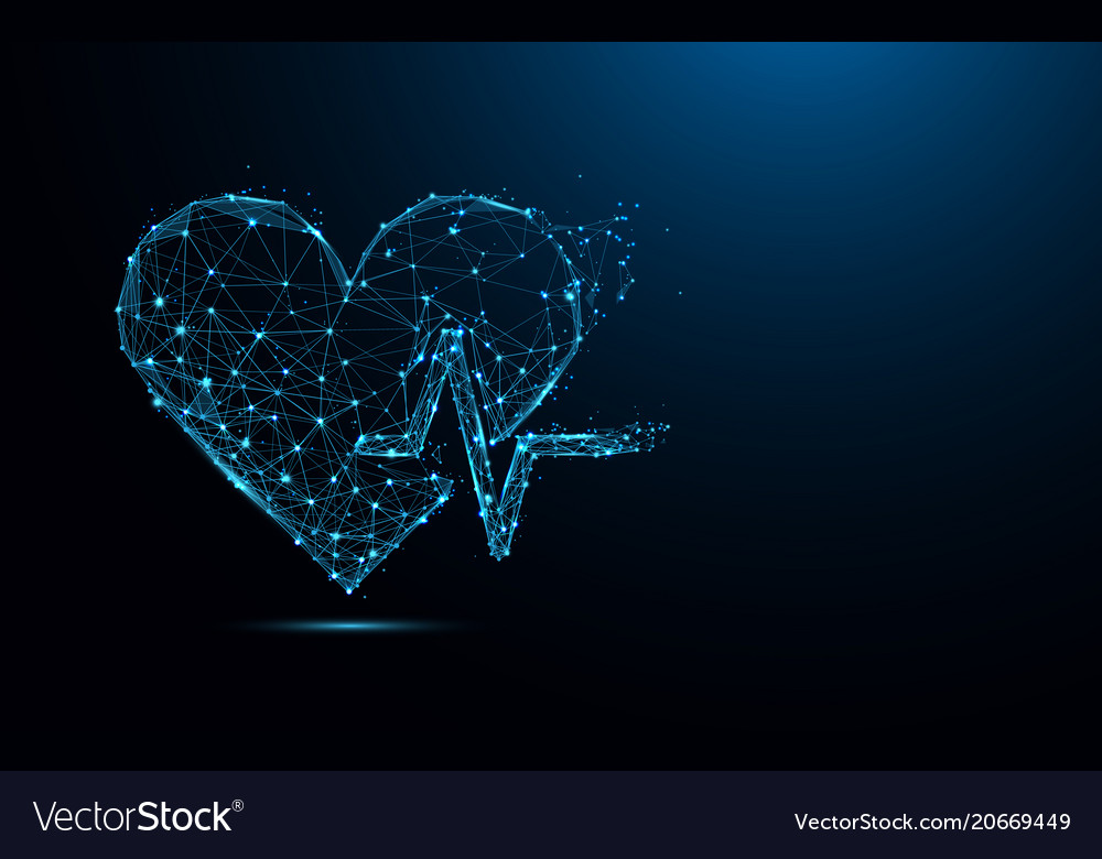 Abstract heart beat sign form lines and triangles