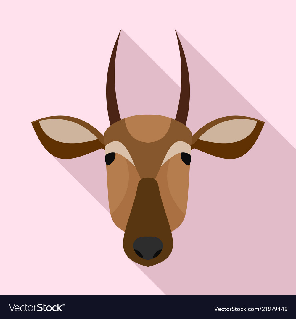 African cow icon flat style