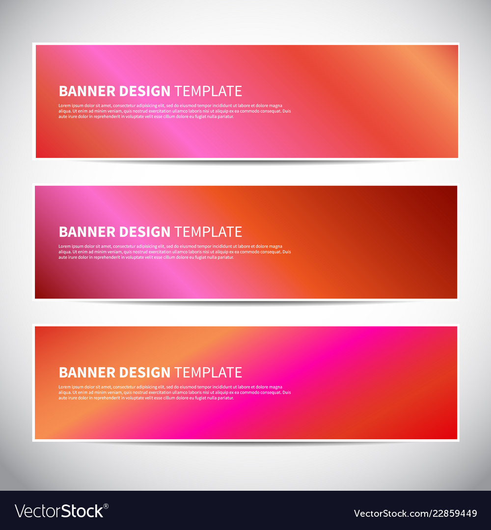 Banners or headers with holographic gradient