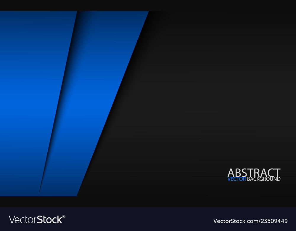 Black and blue modern material design corporate