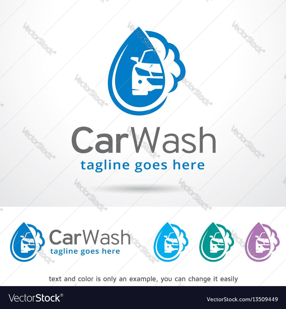 Car wash logo template design vector image