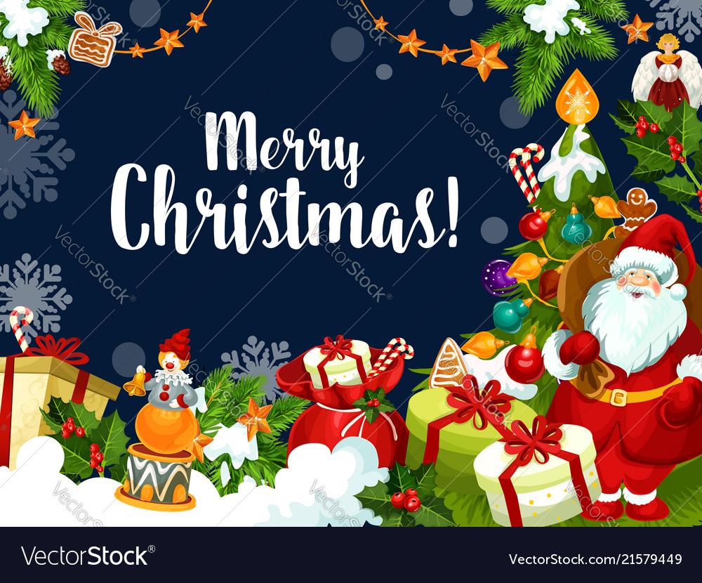 Christmas Wishes Card.Christmas Wish Santa Greetings Card