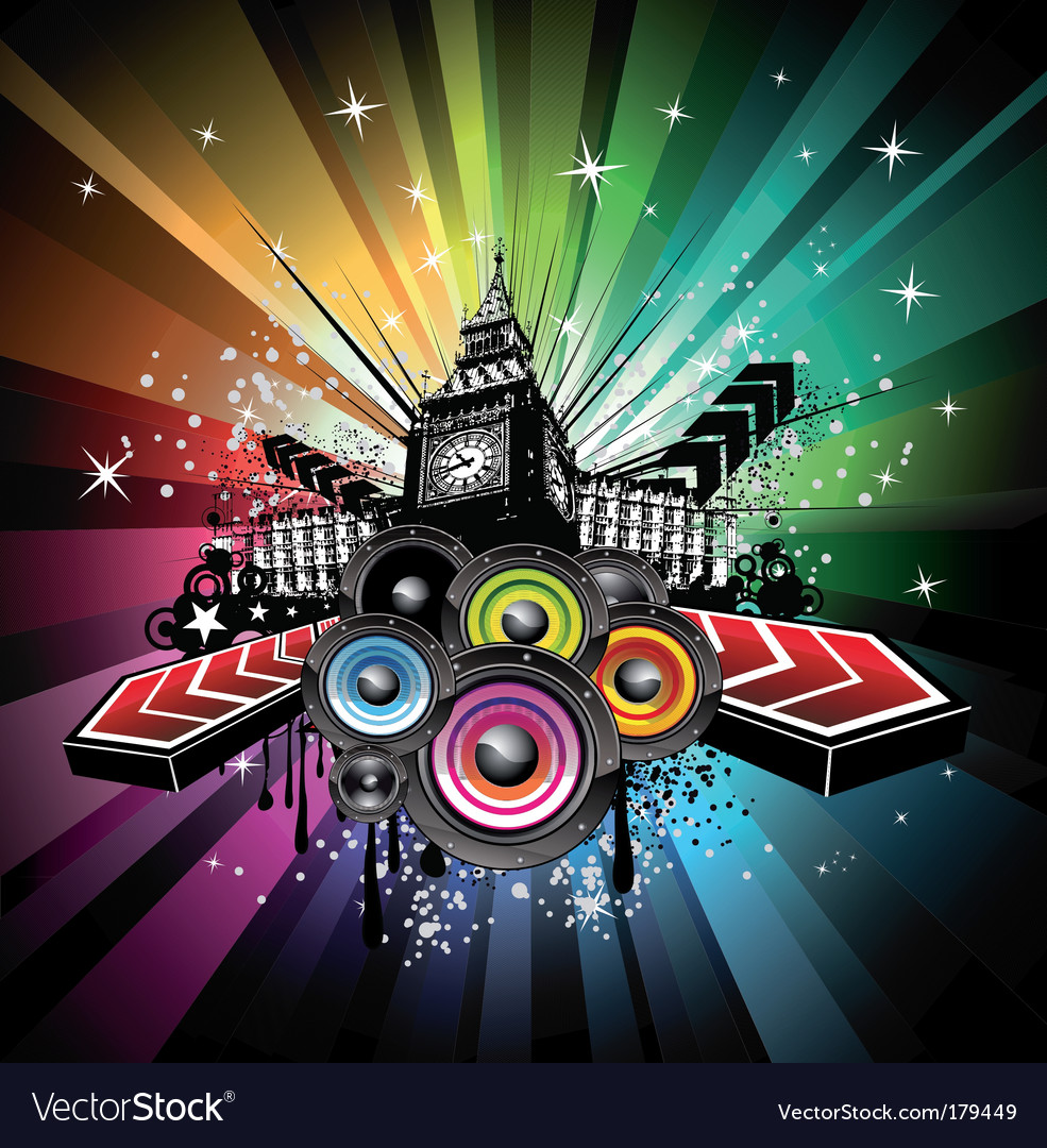 London musical event background vector image