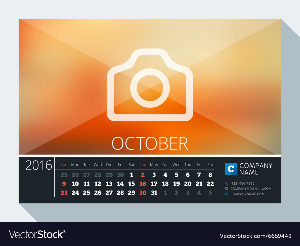 october 2016 stationery design print template desk