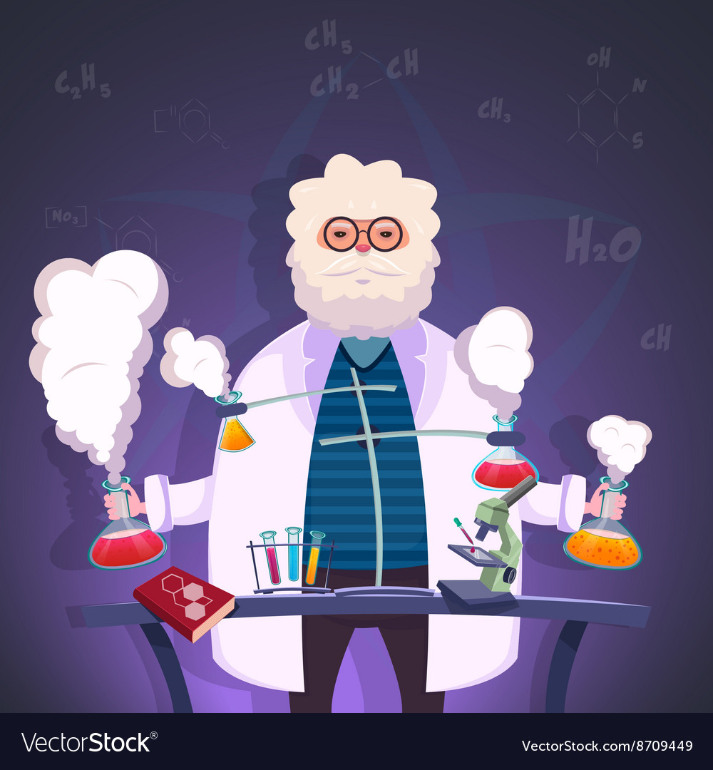 Professor Of Chemistry Poster vector image