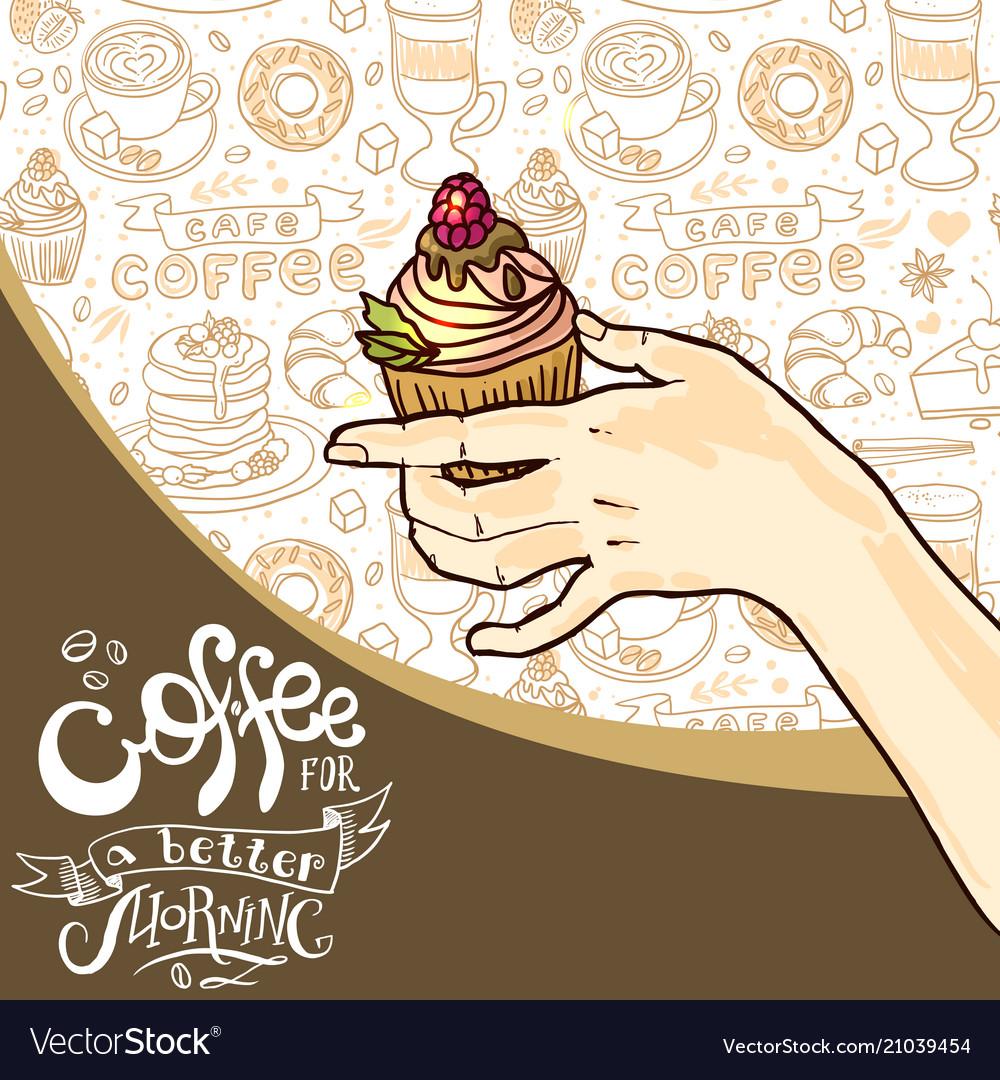 Beautiful hand drawn coffee
