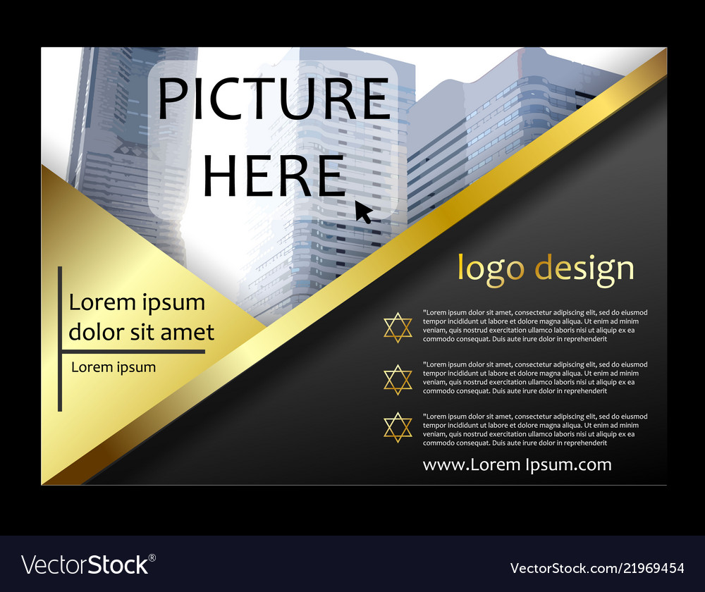 Brochure flyer template magazine cover