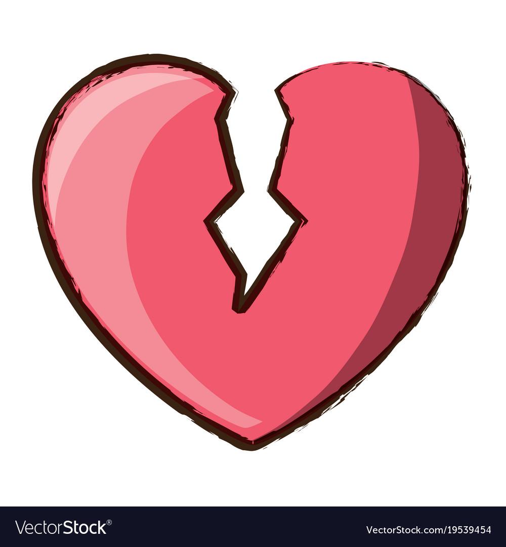 broken heart icon royalty free vector image vectorstock rh vectorstock com love heart icon vector heart icon vector transparent