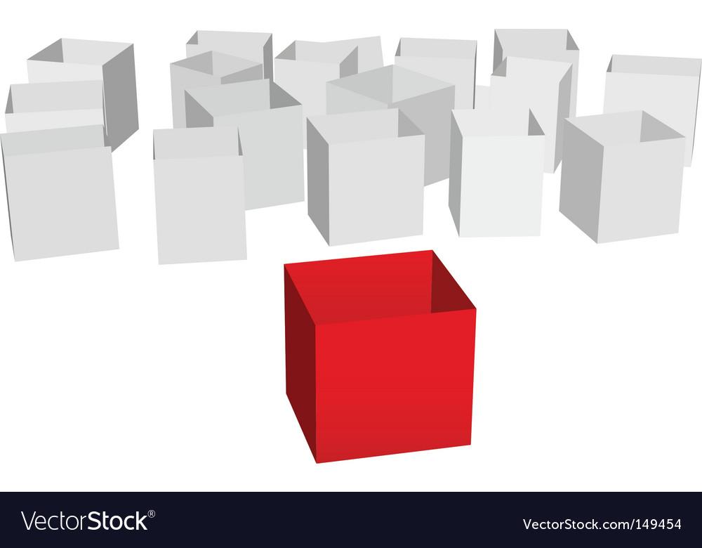 Cartons vector image