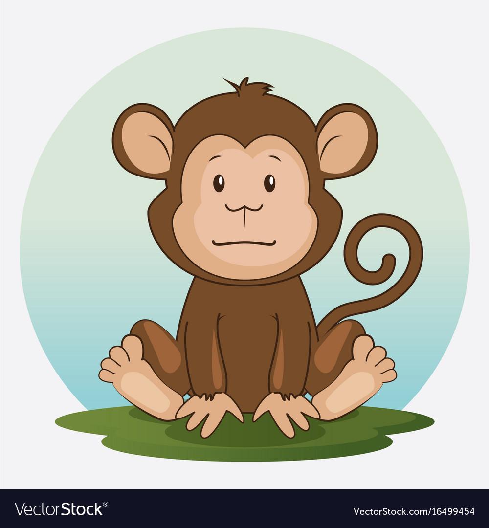 Cute adorable monkey animal cartoon