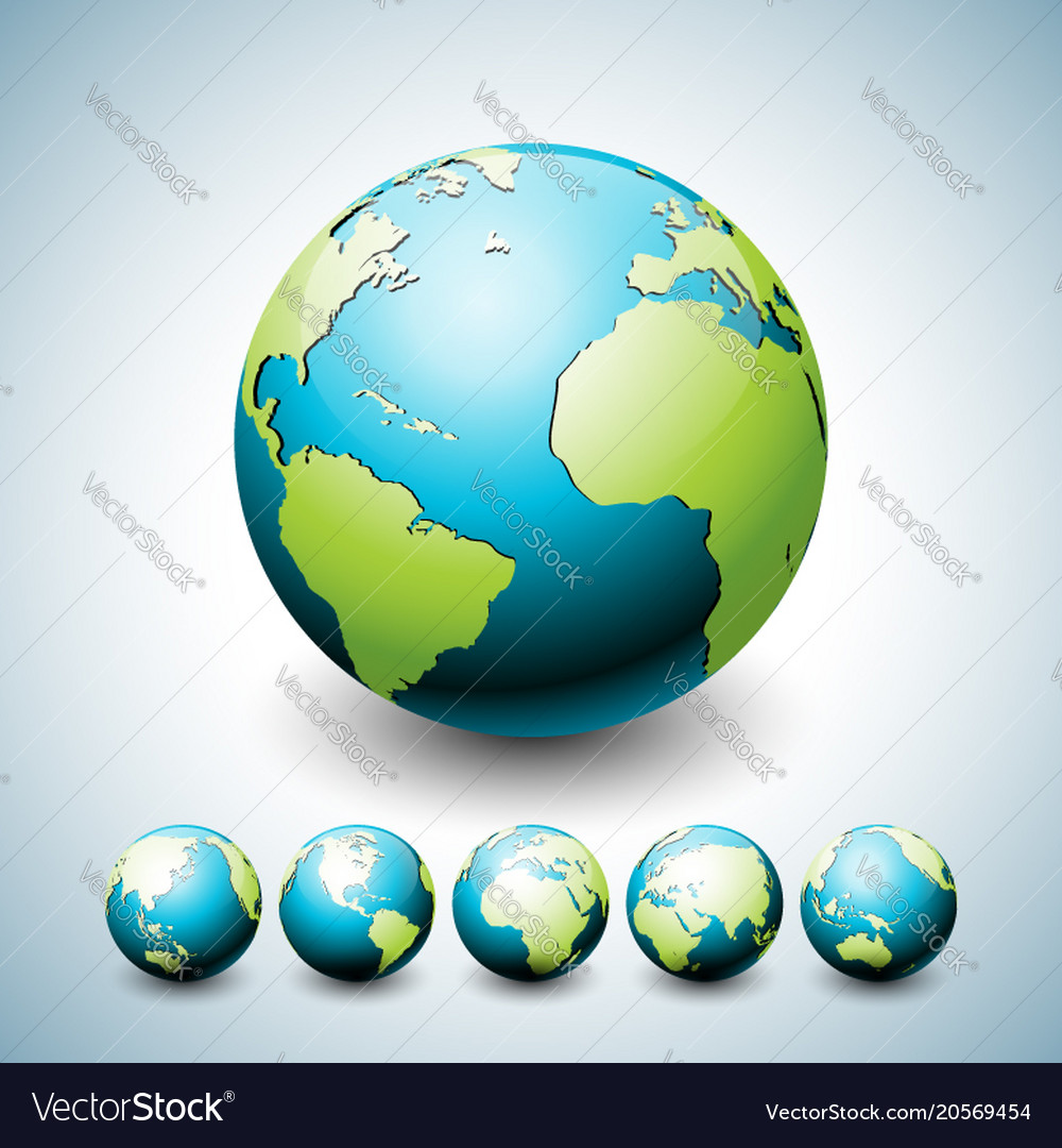 Earth globe with planet on six