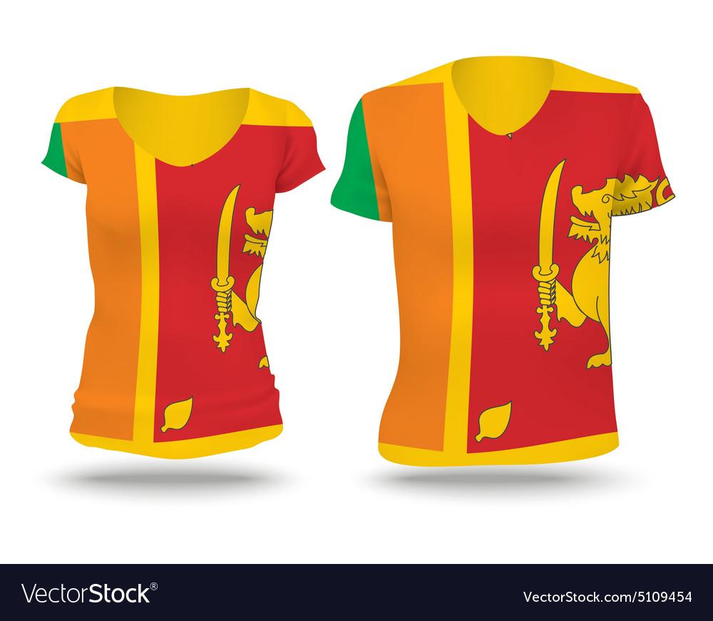 Flag shirt design of Sri Lanka