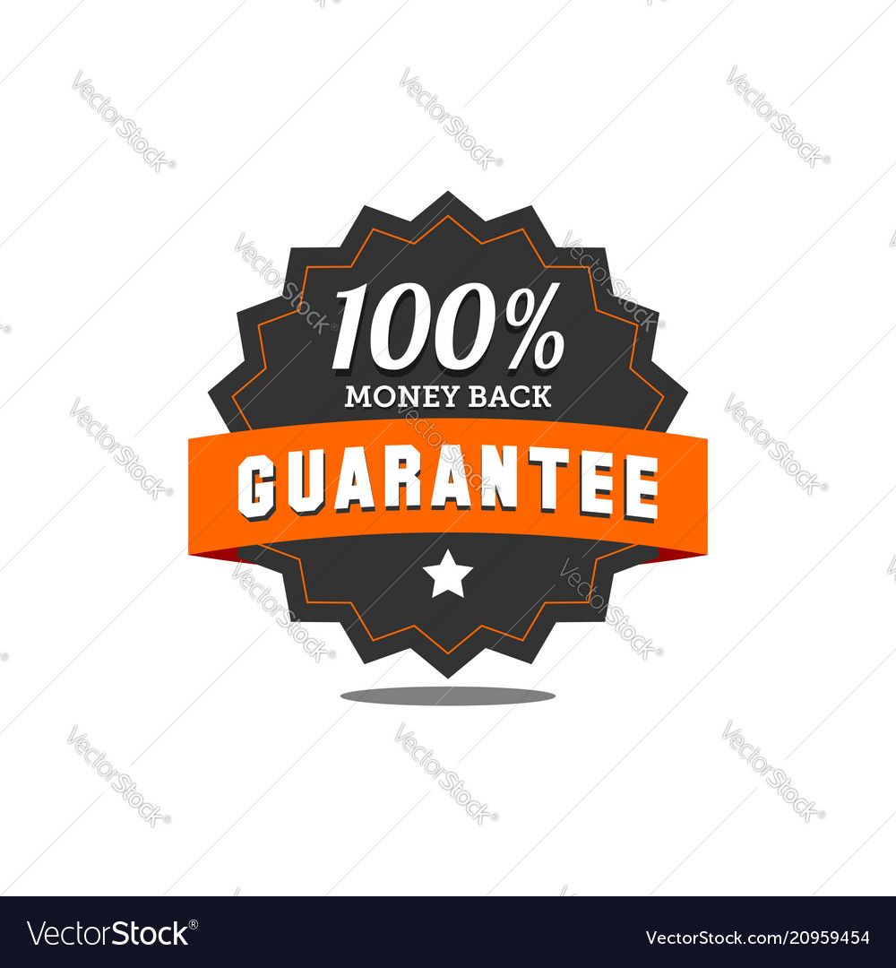 Guarantee badge seal stamp vector image on VectorStock
