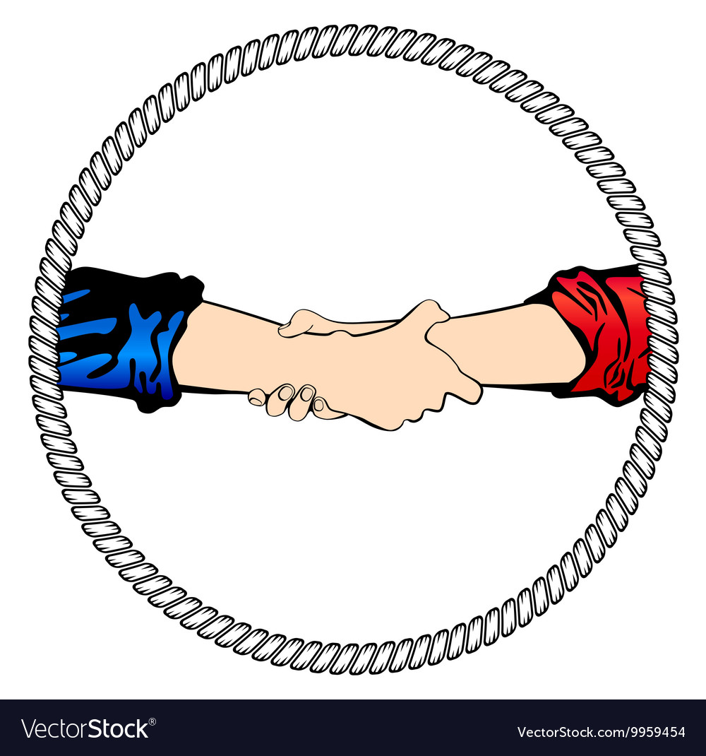 Logo shake hand business
