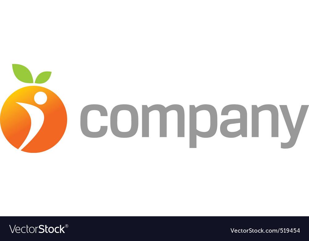 Orange energy logo for sport vector image