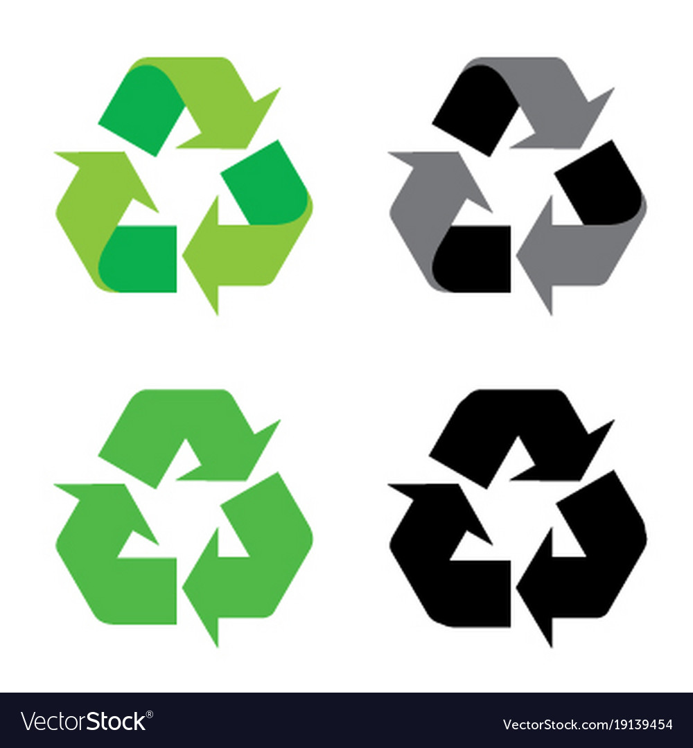 recycle sign icon symbol isolated royalty free vector image
