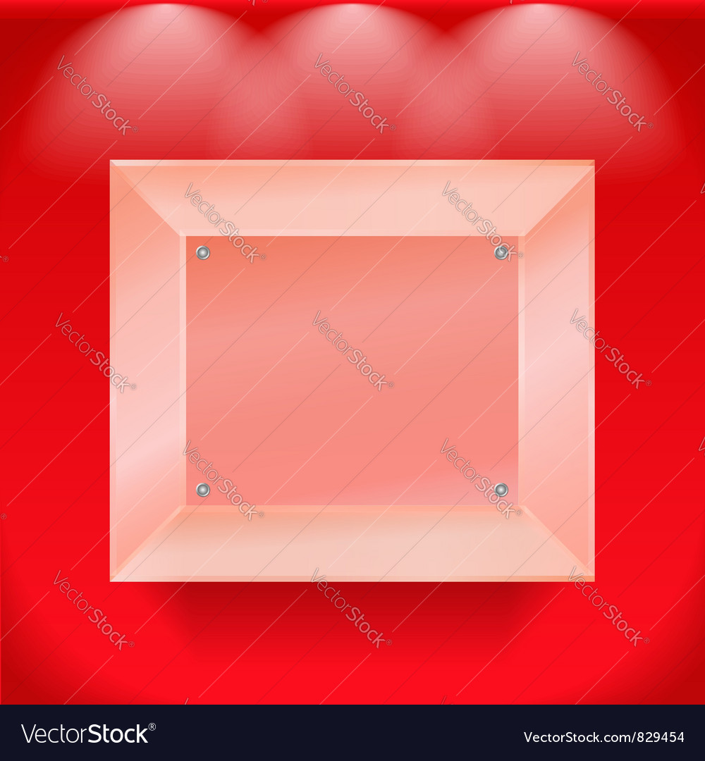 Transparent glass showcase vector image