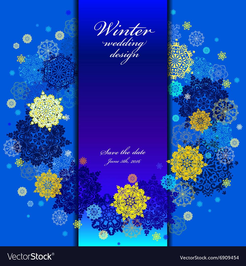 Wedding snowflakes wreath frame design Winter