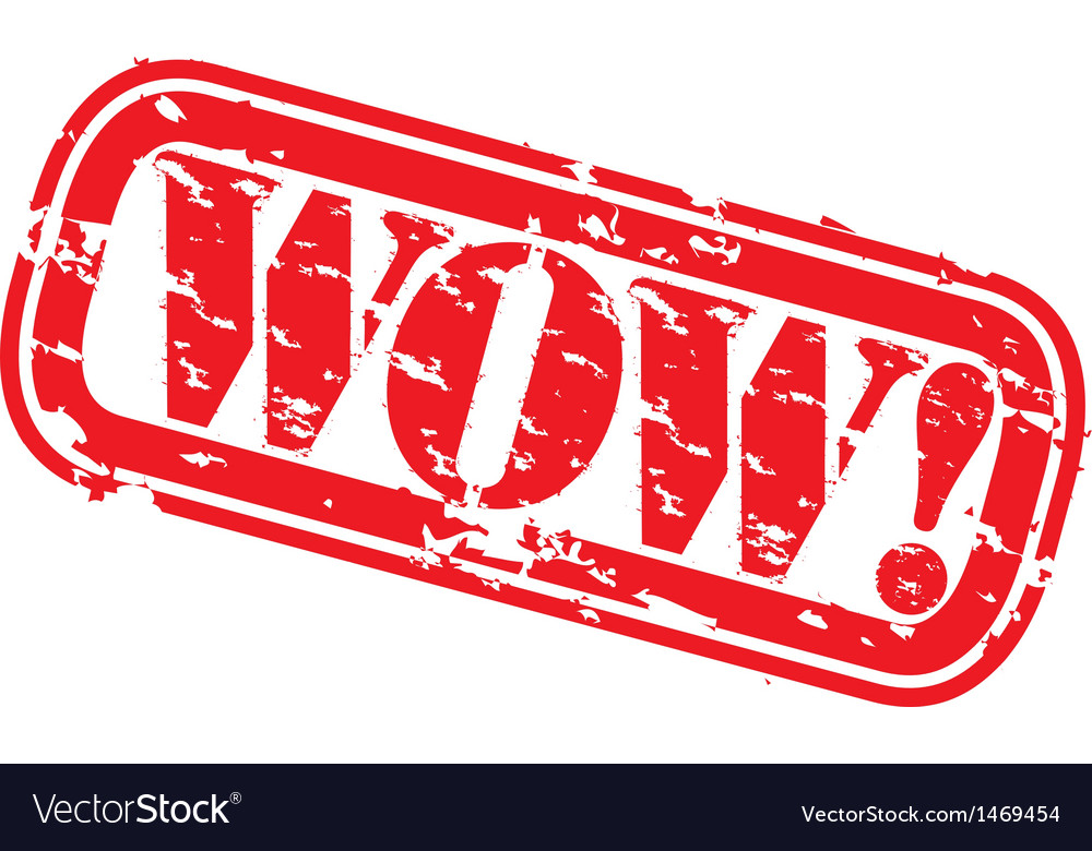 Wow Stamp vector image