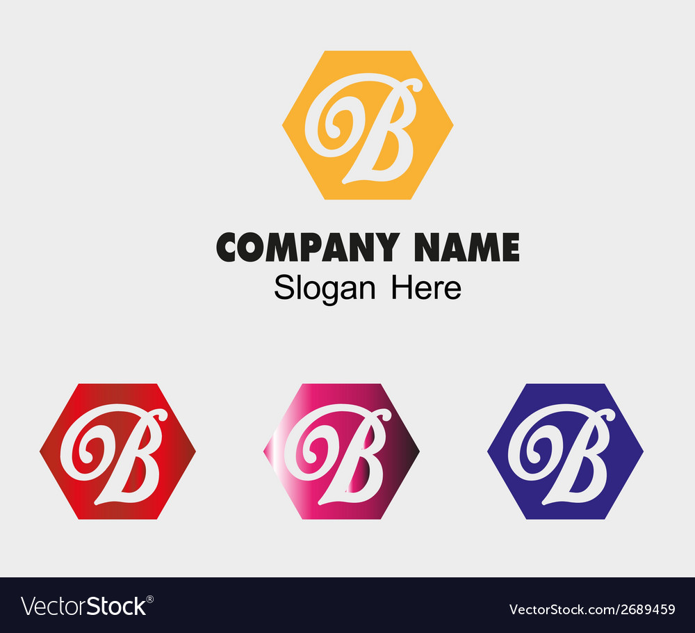 Abstract B logo design template letter B vector image
